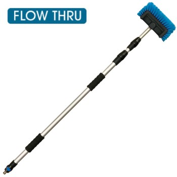 SCTEG Premium Heavy Duty Flow Through Wash Brush & Pole Kit - 1.3m to 3.3m