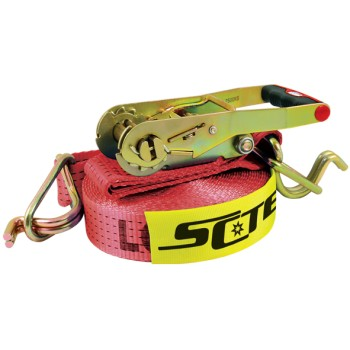 Load Binder / Restraint Ratchet & 50mm x 9m Red Strap