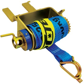 Clip On Load Restraint Ratchet Cap Winch with 50mm x 9m strap