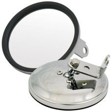 125mm Round Spotter / Reversing Mirror - Stainless Steel / Bolt On