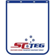 "Anti Spray Ribbed Mudflap - 24"" Wide x 30"" High - SCTEG Branded"