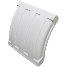 Dynaplas Quarter Plastic Mudguard - 630mm Wide - White