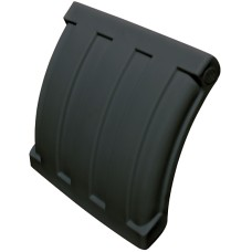 Dynaplas Quarter Plastic Mudguard - 630mm Wide - Black