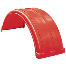 Dynaplas Super Single Plastic Mudguard - 470mm Wide - Red