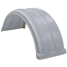 Dynaplas Super Single Plastic Mudguard - 470mm Wide - Grey