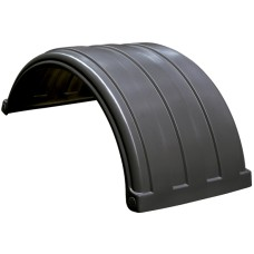 Dynaplas Low Profile Plastic Mudguard - 630mm Wide - Black