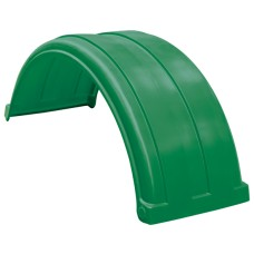 Dynaplas Super Single Plastic Mudguard - 470mm Wide - Dark Green