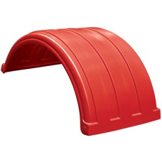 Dynaplas Low Profile Plastic Mudguard - 630mm Wide - Red