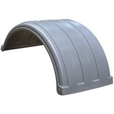 Dynaplas Low Profile Plastic Mudguard - 630mm Wide - Silver