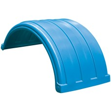 Dynaplas Low Profile Plastic Mudguard - 630mm Wide - Light Blue