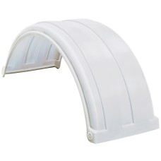 Dynaplas Super Single Plastic Mudguard - 470mm Wide - White