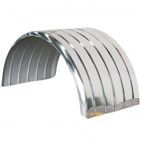 Ribbed Mudguard - Stainless Steel