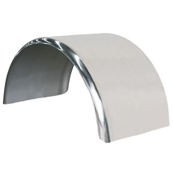 No Grooves Mudguard - Stainless Steel