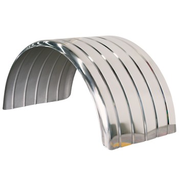 Lelox Ribbed Low Profile Mudguard - Stainless Steel