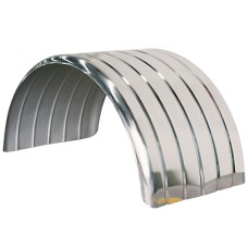 Lelox Ribbed Mudguard - Stainless Steel