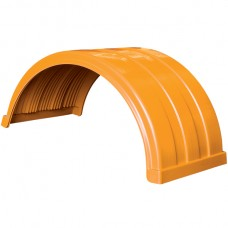 Truckmate Plastic Mudguard - 620mm Wide - Orange