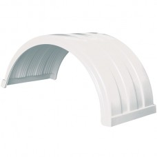 Truckmate Plastic Mudguard - 620mm Wide - White