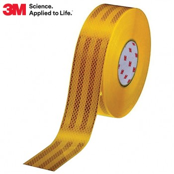3M Diamond Grade™ Reflective Tape (Rigid Surfaces) - Yellow / 50mm Wide