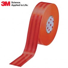 3M Diamond Grade™ Reflective Tape (Rigid Surfaces) - Red / 50mm Wide