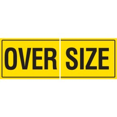OVERSIZE 2 Piece 600 x 450mm Class 1 Reflective Sign - Long Life Sticker