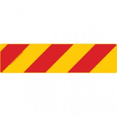 ZEBRA Left Hand Rear 800 x 200mm Class 2 Reflective Sign - Aluminium Plate