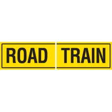 ROAD TRAIN 2 Piece 510 x 250mm Class 2 Reflective Sign - Long Life Sticker
