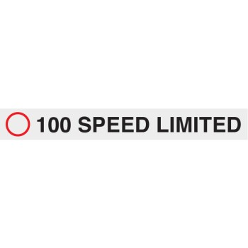 100 Speed Limited 680 x 80mm Class 2 Reflective Sign - Aluminium Plate