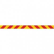 ZEBRA Rear Marker 1600 x 100mm Class 1 Reflective Sign - Aluminium Plate