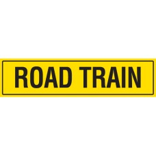 ROAD TRAIN 1020 x 250mm Class 2 Reflective Sign - Long Life Sticker