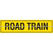 ROAD TRAIN Hinged 1200 x 300mm Class 2 Reflective Sign - Aluminium Plate