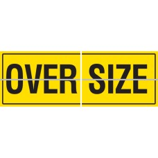 OVERSIZE Hinged 2 Piece 600 x 450mm Class 2 Reflective Sign - Aluminium Plate