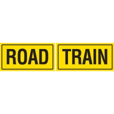 ROAD TRAIN 2 Piece 600 x 250mm Class 2 Reflective Sign - Aluminium Plate