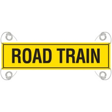 ROAD TRAIN 1200 x 300mm Reflective Banner - Vinyl Canvas