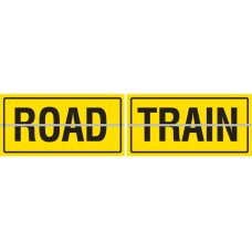 ROAD TRAIN Hinged 2 Piece 600 x 250mm Class 2 Reflective Sign - Aluminium Plate