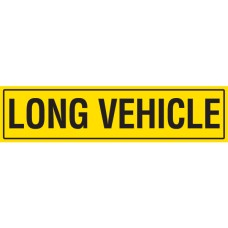 LONG VEHICLE 1020 x 250mm Class 2 Reflective Sign - Metal Plate