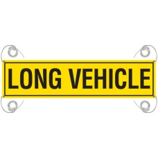 LONG VEHICLE 1225 x 315mm Reflective Banner - Vinyl Canvas