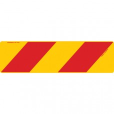 ZEBRA Left Hand Rear 750 x 215mm Class 1 Reflective Sign - Aluminium Plate