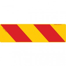 ZEBRA Right Hand Rear 750 x 215mm Class 1 Reflective Sign - Aluminium Plate