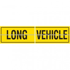 LONG VEHICLE Hinged 2 Piece 600 x 300mm Class 2 Reflective Sign - Aluminium Plate