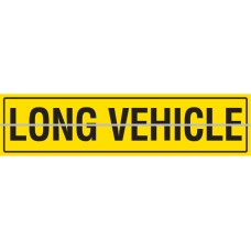 LONG VEHICLE Hinged 1200 x 300mm Class 2 Reflective Sign - Aluminium Plate