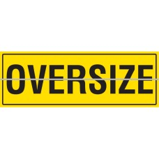 OVERSIZE Hinged 1200 x 450mm Class 2 Reflective Sign - Aluminium Plate