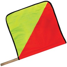 "Flag Red & Yellow ""Oversized Load"" with Dowel Pole - 450mm x 450mm"