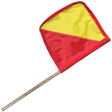 Flag Red & Yellow with Dowel Pole