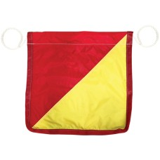 Flag Red & Yellow with rope