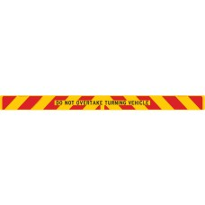 ZEBRA / DO NOT OVERTAKE TURNING VEHICLE 2100 x 150mm Class 2 Reflective Sign - Aluminium Plate