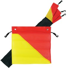 Red & Yellow Safety Flag Kit, 450 x 450mm - For Transport / Oversize Truck & Trailer Loads