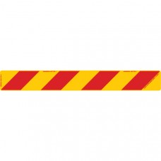 ZEBRA Left Hand Rear 800 x 100mm Class 1 Reflective Sign - Aluminium Plate