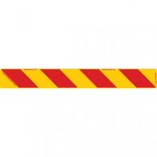 ZEBRA Right Hand Rear 800 x 100mm Class 1 Reflective Sign - Aluminium Plate