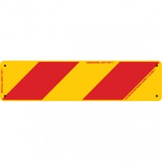 ZEBRA Left Hand Rear 400 x 100mm Class 1 Reflective Sign - Aluminium Plate