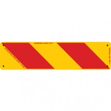 ZEBRA Right Hand Rear 400 x 100mm Class 1 Reflective Sign - Aluminium Plate